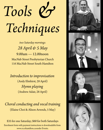 Spring sessions offer insight into hymn improvisation, choral conducting, choral conducting, and vocal training